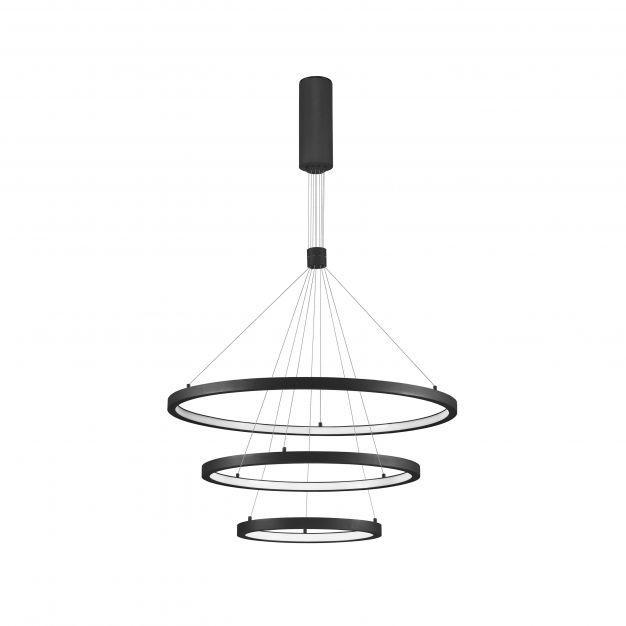 Nova Luce Empatia - hanglamp - Ø 80 x 150 cm - 108W dimbare LED incl. - zand zwart