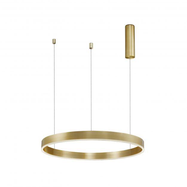 Nova Luce Motif - hanglamp - Ø 60 x 120 cm - 40W dimbare LED incl. - messing goud