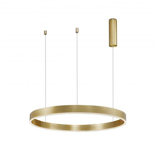 Nova Luce Motif - hanglamp - Ø 80 x 120 cm - 48W dimbare LED incl. - messing goud