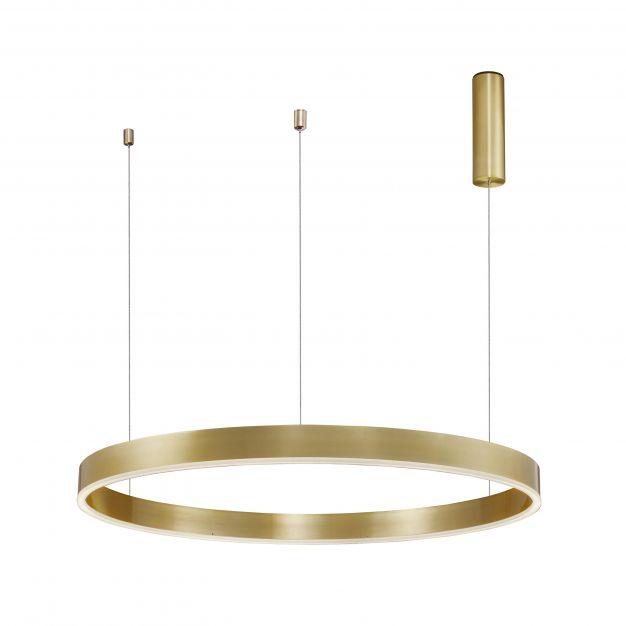 Nova Luce Motif - hanglamp - Ø 100 x 150 cm - 55W dimbare LED incl. - messing goud