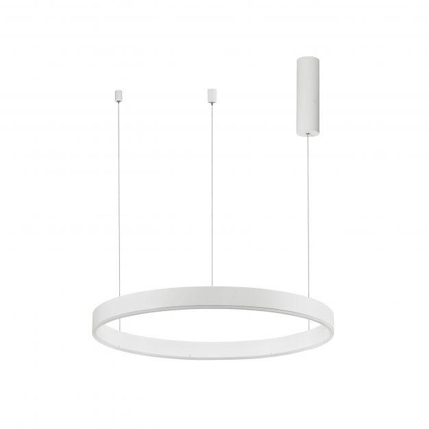 Nova Luce Motif - hanglamp - Ø 60 x 120 cm - 40W dimbare LED incl. - zandwit