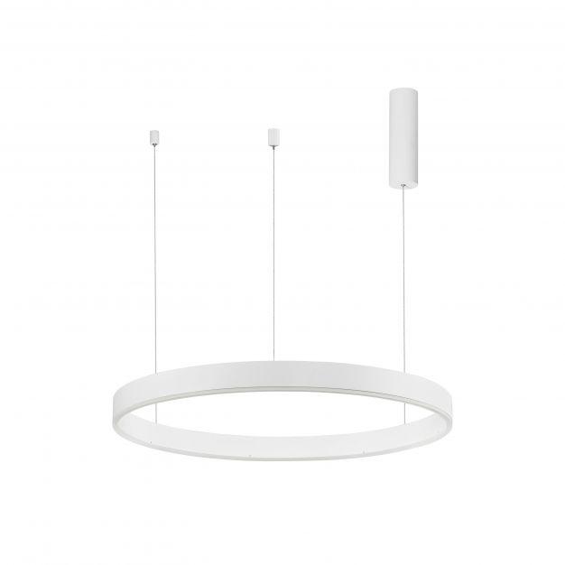 Nova Luce Motif - hanglamp - Ø 80 x 120 cm - 48W dimbare LED incl. - zandwit
