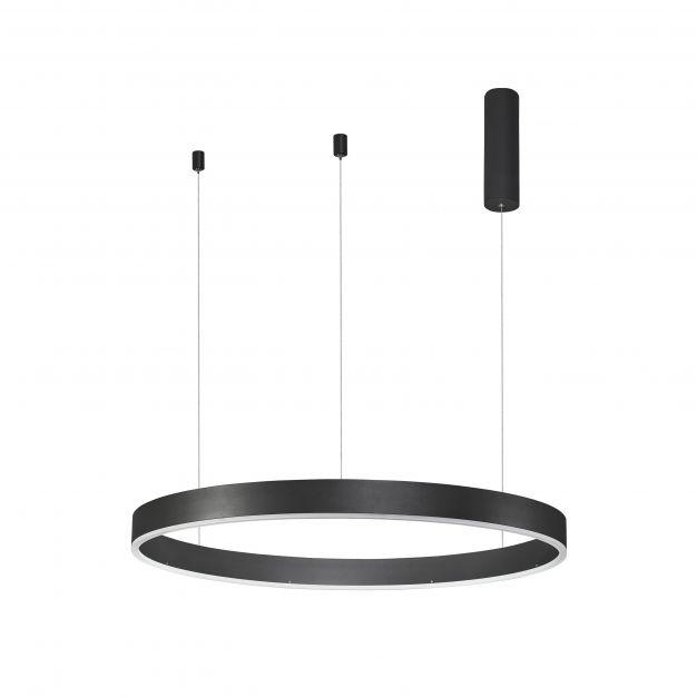Nova Luce Motif - hanglamp - Ø 80 x 120 cm - 48W dimbare LED incl. - zand zwart