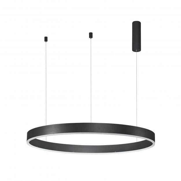 Nova Luce Motif - hanglamp - Ø 100 x 150 cm - 55W dimbare LED incl. - zand zwart