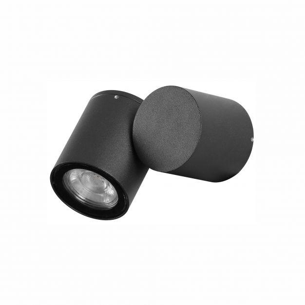 Nova Luce Focus - opbouwspot - 6 x 11,5 x 9,5 cm - IP54 - zwart