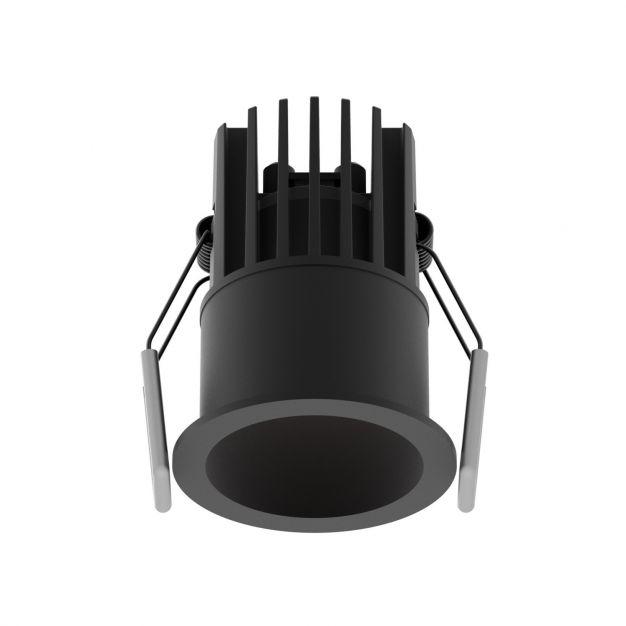 Nova Luce Bree - inbouwspot - Ø 56 mm, Ø 50 mm inbouwmaat - 7W LED incl. - IP32 - zwart