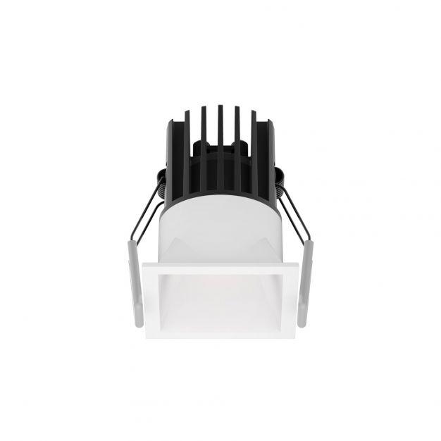Nova Luce Bree - inbouwspot - 56 x 56 mm, 50 x 50 mm inbouwmaat - 7W LED incl. - IP32 - wit