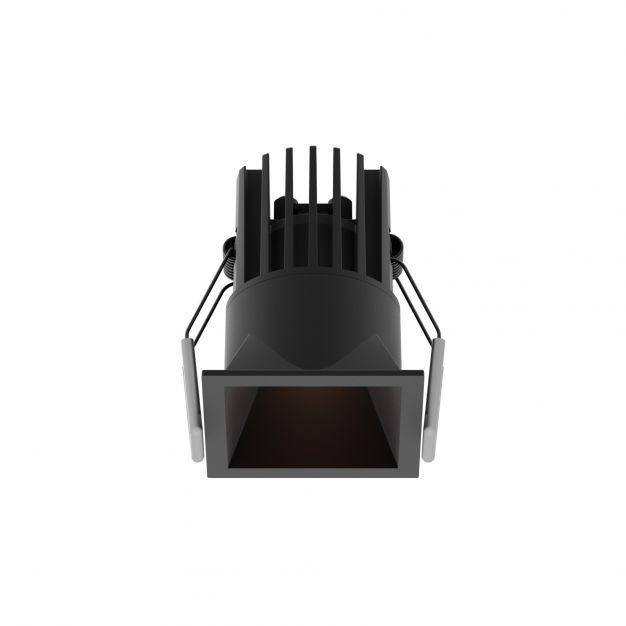 Nova Luce Bree - inbouwspot - 56 x 56 mm, 50 x 50 mm inbouwmaat - 7W LED incl. - IP32 - zwart