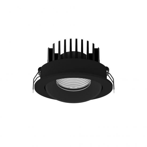Nova Luce Blade - inbouwspot - Ø 90 mm, Ø 80 mm inbouwmaat - 12W LED incl. - IP65 - zwart