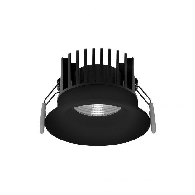 Nova Luce Blade - inbouwspot - Ø 85 mm, Ø 80 mm inbouwmaat - 12W LED incl. - IP65 - zwart