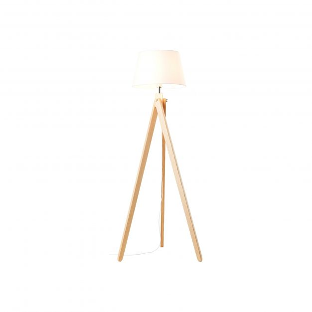 Brilliant Porty - staanlamp - Ø 70 x 148 cm - lichtbruin en wit