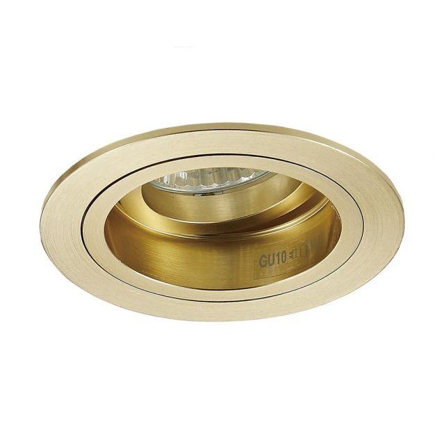 Zuma Line Chuck DL rond - inbouwspot - Ø 92 mm, Ø 80 mm inbouwmaat - goud