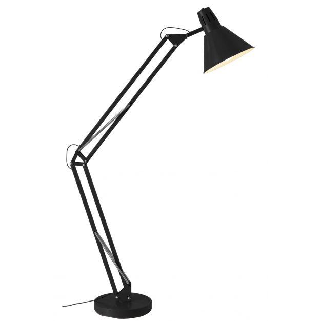 Brilliant Winton - staanlamp - 180 cm - zwart