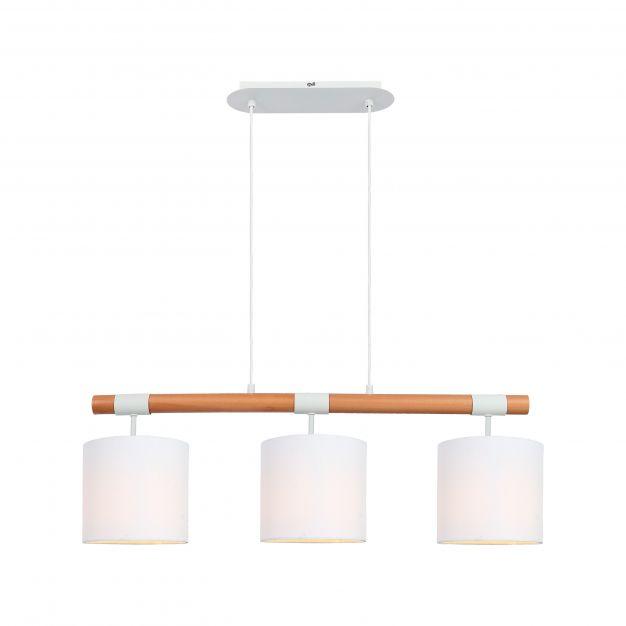 Brilliant Eloi - hanglamp - 80 x 18 x 97,5 cm - wit en bruin