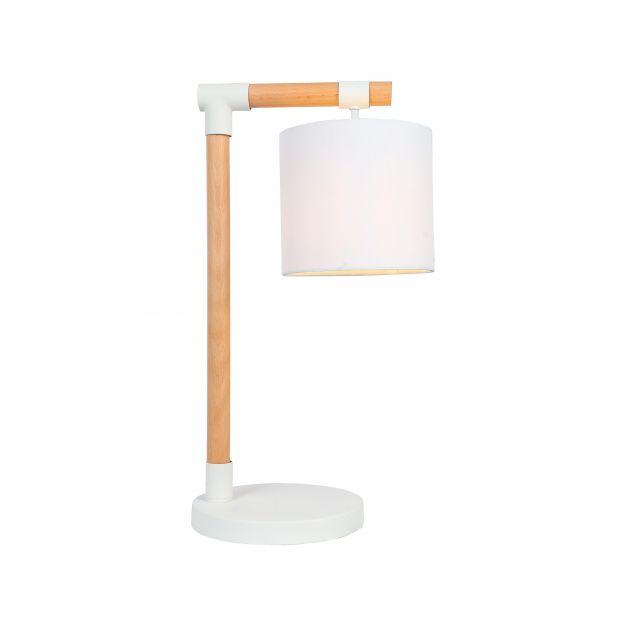 Brilliant Eloi - tafellamp - 27,5 x 20 x 50 cm - wit en lichtbruin