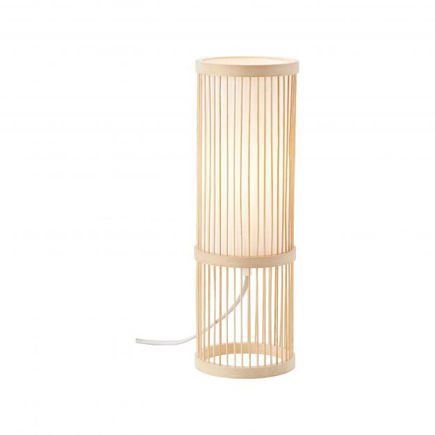 Brilliant Nori - tafellamp - Ø 12 x 36 cm - bruin en wit