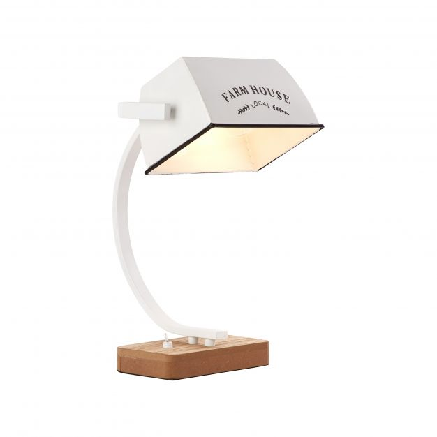 Brilliant Davis - tafellamp - 28,5 x 23 x 39 cm - wit hoogglans