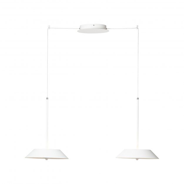 Brilliant Skadi - hanglamp - 30 x 30 x 182 cm - 2 x 29W LED incl. - wit