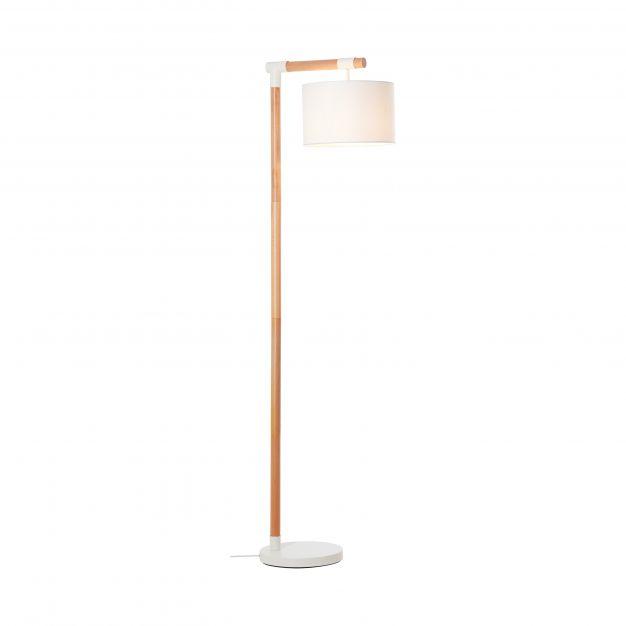 Brilliant Eloi - staanlamp - 48 x 30 x 167,5 cm - wit en lichtbruin