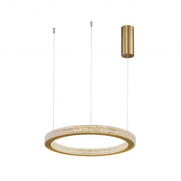 Nova Luce Fiore - hanglamp - Ø 40 x 120 cm - 40W dimbare LED incl. - antiek goud messing