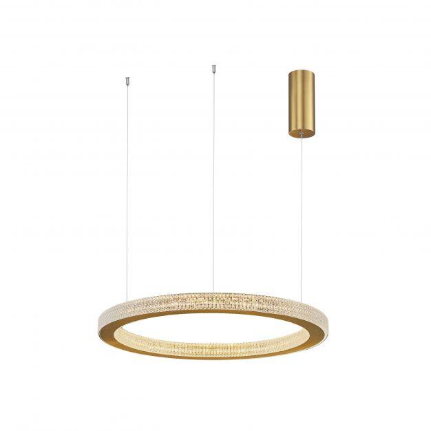 Nova Luce Fiore - hanglamp - Ø 60 x 120 cm - 60W dimbare LED incl. - antiek goud messing
