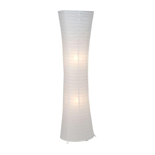 Brilliant Becca - staanlamp - 125 cm - wit