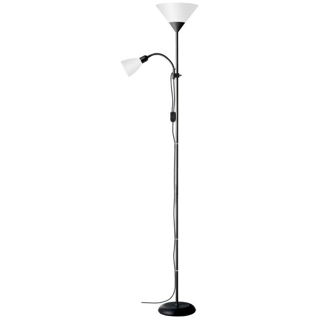 Brilliant Spari 4 - staanlamp - 180 cm - zwart, wit