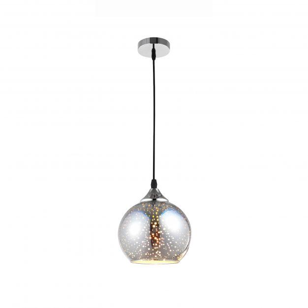 Nova Luce Bennett - hanglamp - Ø 28 x 120 cm - chroom