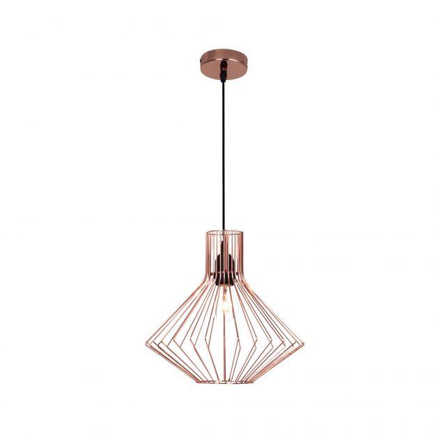 Brilliant Dalma - hanglamp - Ø 30 x 140 cm - koper