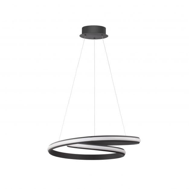 Nova Luce Malvi - hanglamp - Ø 55 x 120 cm - 32W LED incl. - zand zwart