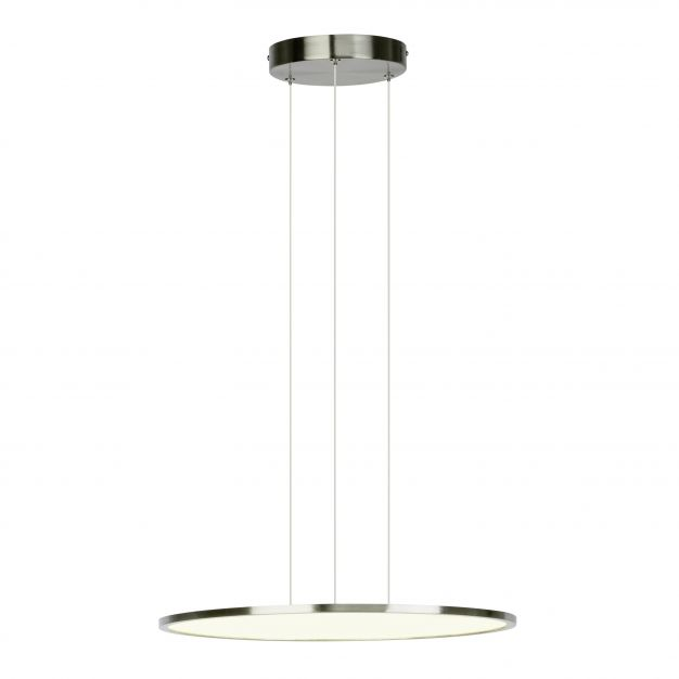 Brilliant Ceres - hanglamp - Ø 45 x 120 cm - easydim 30W LED incl. - satijn chroom