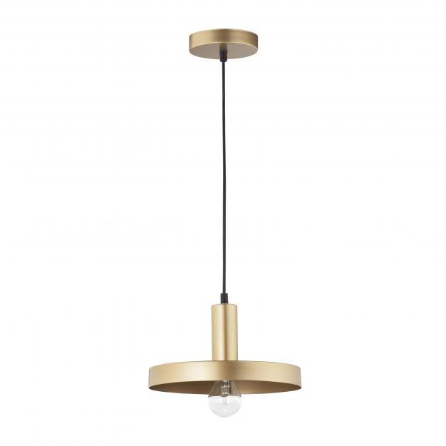 Nova Luce Garni - hanglamp - Ø 25 x 120 cm - goud en zwart