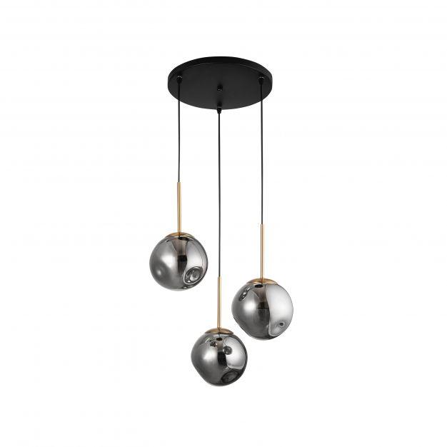 Nova Luce Spada - hanglamp - Ø 40 x 180 cm - chroom