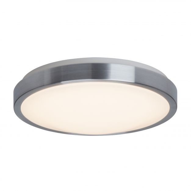 Brilliant Ethan - wand / plafondverlichting - Ø 33 x 10 cm - 12W LED incl. - IP21 - hoogwaardig staal / wit
