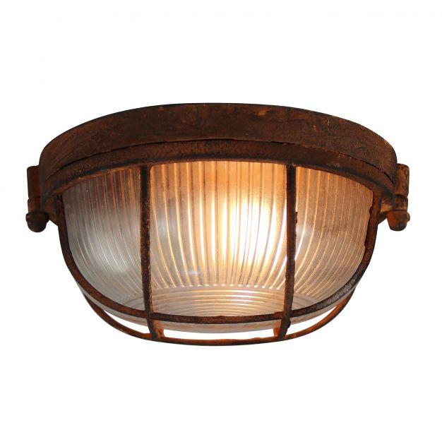 Brilliant Lauren - plafond/wandverlichting - Ø 19 x 8,5 cm - roest