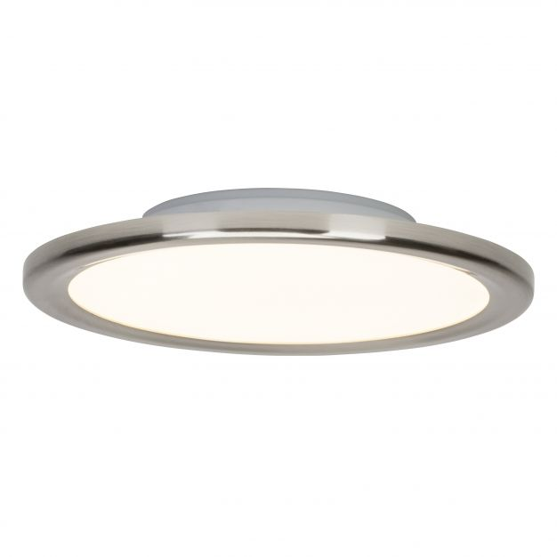 Brilliant Neptun - plafondlamp - Ø 30 x 5 cm - 23W easydim LED incl. - IP44 - satijn chroom (laatste stuk!)