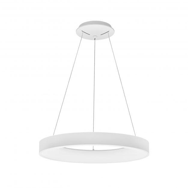 Nova Luce Rando Smart - hanglamp - Ø 60 x 120 cm - 50W dimbare LED incl. - Tuya - zandwit