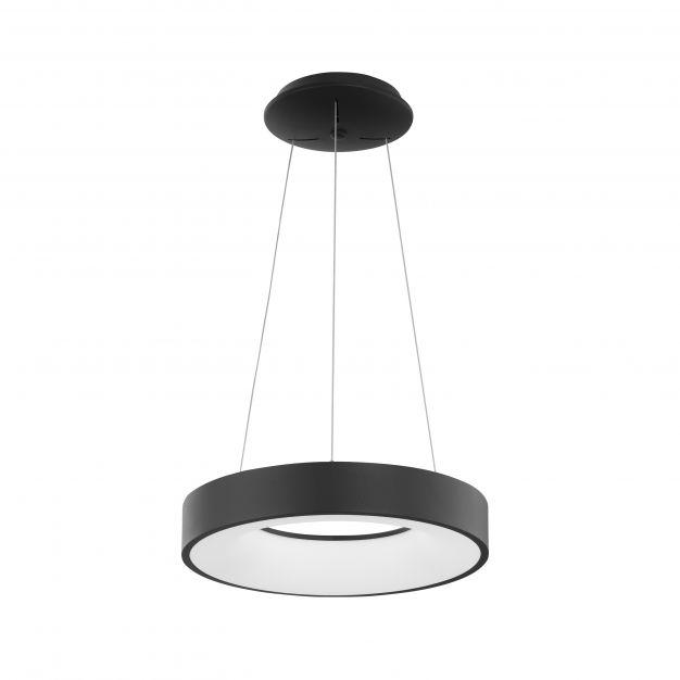 Nova Luce Rando Thin - hanglamp - Ø 38 x 120 cm - 30W dimbare LED incl. - zand zwart
