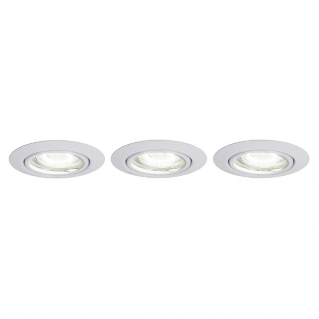 Brilliant Honor - set van 3 - Ø 90 mm, Ø 70 mm inbouwmaat - 5W LED incl. - wit - witte lichtkleur