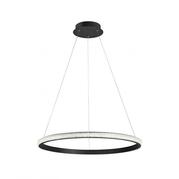 Nova Luce Nager - hanglamp - Ø 60,5 x 120 cm - 29W dimbare LED incl. - zand zwart