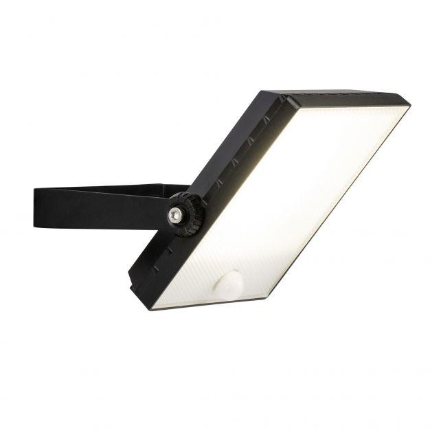 Brilliant Dryden - verstraler met bewegingsmelder - 17 x 22 x 13 cm - 30W LED incl. - IP65 - zwart