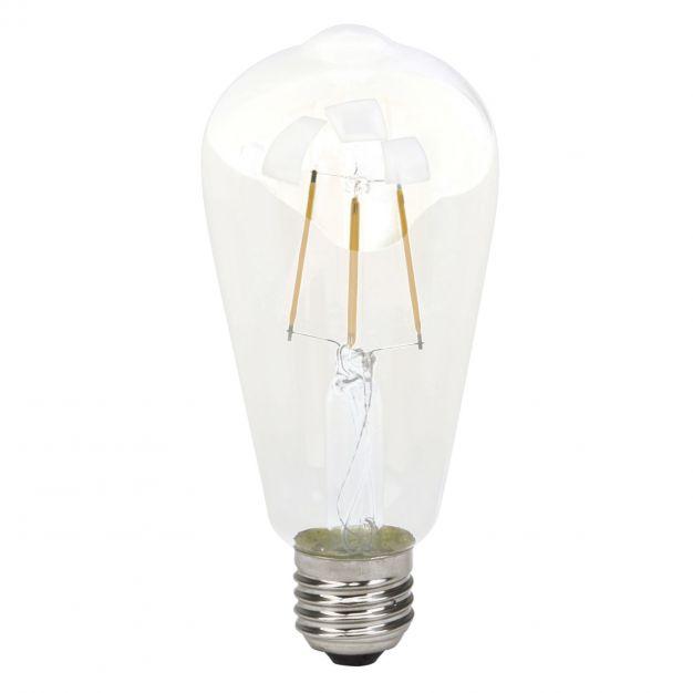 LED-lamp filament - E27 - 4W niet dimbaar - 3000K - transparant