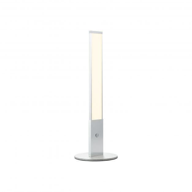 Brilliant Entrance - tafellamp - Ø 18 x 51,5 cm - 9W dimbare LED incl. - aluminium en wit