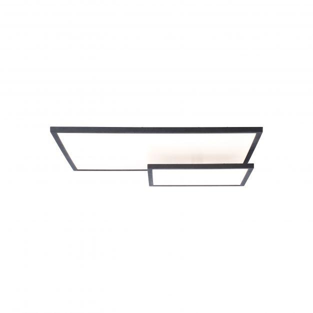 Brilliant Bility - plafondverlichting - 62 x 46,5 x 7,4 cm - 36W easyDim LED incl. - wit en zwart
