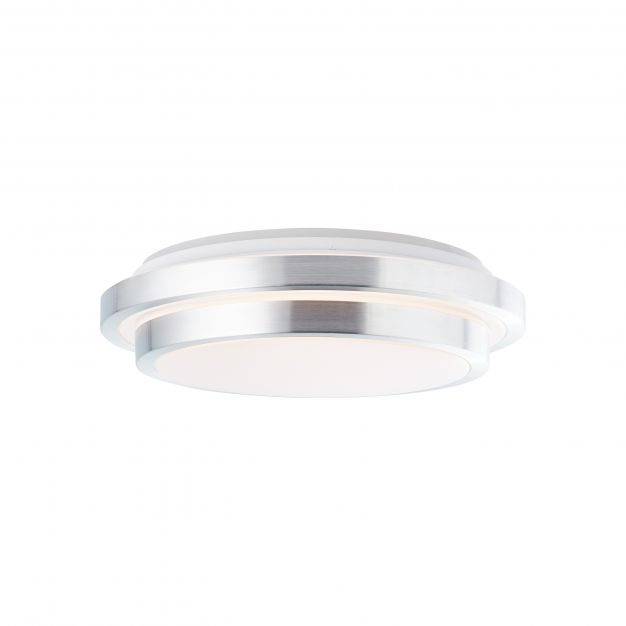Brilliant Vilma - plafondverlichting RGB met afstandsbediening - Ø 41 x 12,5 cm - 24W dimbare LED incl. - wit en zilver