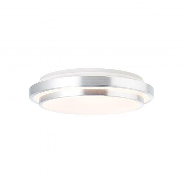 Brilliant Vilma - plafondverlichting RGB met afstandsbediening - Ø 51,5 x 15,5 cm - 32W dimbare LED incl. - wit en zilver