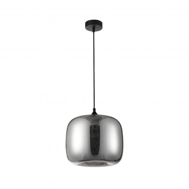 Nova Luce Savaz - hanglamp - Ø 28 x 120 cm - zwart en chroom