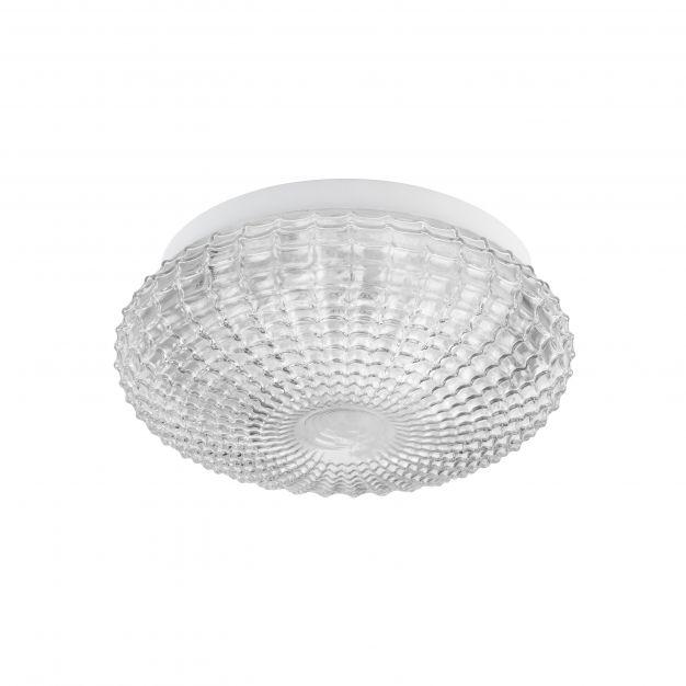 Nova Luce Clam - plafondlamp badkamer - Ø 30 x 12 cm - IP44 - transparant