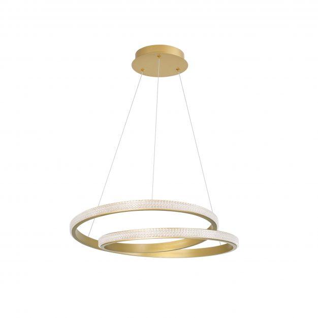 Nova Luce Grania - hanglamp - Ø 55 x 120 cm - 25W dimbare LED incl. - mat goud