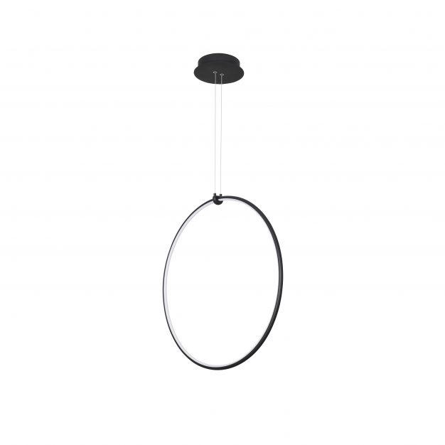 Nova Luce Ring - hanglamp - 68 x 21 x 120 cm - 28W dimbare LED incl. - zand zwart